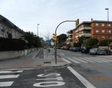 Urbanización de la avenida Pla de Vinyet de Sant Cugat del Vallès